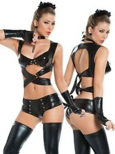 SEXY COSTUME CATWOMAN PUSSY CAT LINGERIE GOGO SIZE ONE (S-M) 8499