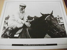 EPSOM DERBY - TROY & WILLIE CARSON 1979  : 10X8 PRINT (25cm x 20cm)