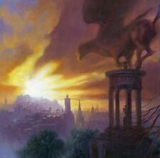 "NEW ORIGINAL MARK HARRISON  ""The Hippogriff of Calton Hill"" Fantasy OIL PAINTING"