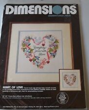 Dimensions Counted Cross Stitch Kit Heart Of Love Color Chart New