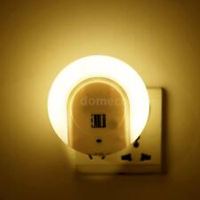 LED Night Light with Dusk to Dawn Sensor and Dual USB Wall Plate Charger A3N1