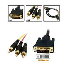 3m DVI-I 24+5pin to RCA male Gold AV Cable Lead for HDTV PC LCD Monitor