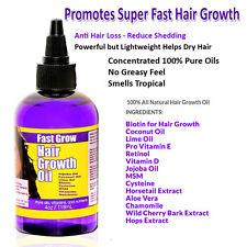 Fast Grow Hair Oil 4oz  Coconut Oil Biotin Jojoba MSM and Fast Growth Extracts
