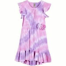 NEW MIGNONE Girls' Tie-dyed High/low Hemline Dress Pink and Lilac 7