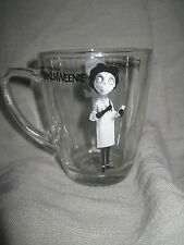 DISNEY Frankenweenie Halloween Movie Glass Clear Coffee Beverage Mug 10 oz NEW