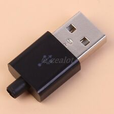 10pcs Male Micro USB Connector Solder Mounting Type-A 5 Pin Adapter Black