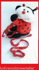 2 IN 1 KIDS TODDLER BABY LADY BUG SAFETY HARNESS BUDDY LEASH BACKPACK