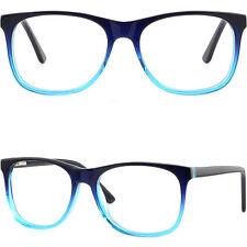 Groß Herren Damen Brille Plastik Gestell Kunststoff Brillenfassung Dunkelblau