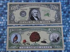State of New York ~ Fun $1,000,000 One Million Dollar Bill The Empire State 1788