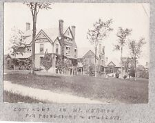 VINTAGE 1901 D L MOODY COTTAGES IN MT. HERMON NORTHFIELD MASSACHUSETTS OLD PHOTO