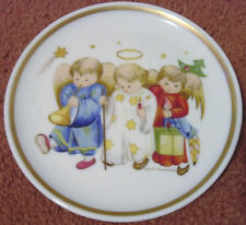 Hummel Miniature Ceramic Porcelain Plate Angels Engelchen Schmidt West Germany