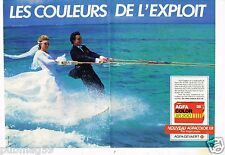 Publicité advertising 1984 (2 pages) Pellicule film photo AgfaColor Agfa Gevaert