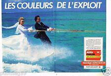 Publicité advertising 1984 (2 pages) Pellicule film photo AgfaColor Agfa Gevaert