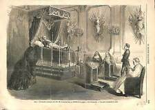 Mort d'Adolphe Niel Marechal France - Chambre Mortuaire GRAVURE 1869