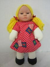 Anne Geddes 1999 The Baby Doll Collection Cloth w/ Vinyl Face 14""