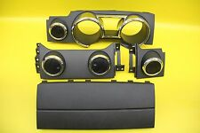 2005-2009 FORD MUSTANG DASH CLUSTER BEZEL VENTS AIRBAG COVER TRIM SET BLACK OEM