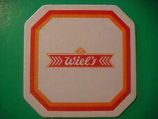 Vintage Beer Coaster: Wielemans-Ceuppens Brewery Wiel's Bier ~ Brussels, BELGIUM
