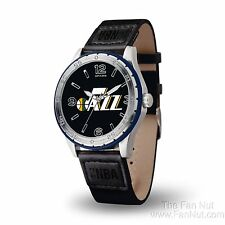 Utah Jazz PLAYERS Style Watch Team Color Logo Black Band NBA Basketball