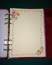 Filofax A5 Organiser Planner - 20 Sheets of Beautiful Flower & Border Paper