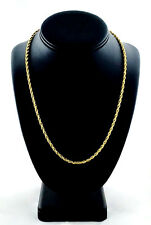 "Ion Plated Yellow Gold Stainless Steel Rope Chain Necklace (3.0 mm, 10.7 g, 20"")"