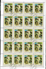 Fujeira Art Famous Painting Nude Diana Renoire sheet of 20 stamps 1970