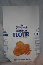 Vintage 10 Lb. Springfield Paper Flour Bag Sack New Old Stock - Never Used