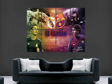 MESSI  RONALDO EL CLASICO  REAL MADRID GIANT WALL POSTER ART  PRINT LARGE HUGE