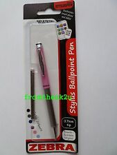 Zebra Telescopic Stylus Ballpoint Pen iPad Tablet Smartphone Pink with Black Ink