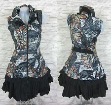 PATCHWORK Weste Kleid Tunika Longshirt Schwarz/Braun Gr 48 (T1212N) FRANSTYLE