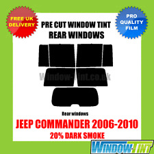 JEEP COMMANDER 2006-2010 20% DARK REAR PRE CUT WINDOW TINT