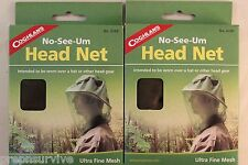 2 PK MOSQUITO BEE FLY INSECT HEAD NET ULTRA FINE 1150 MESH! STOP NO-SEE-UM'S