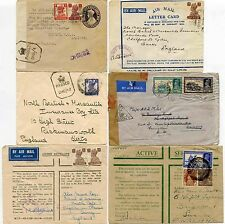INDIA WW2 CENSORS STATIONERY + OAS + LETTERCARD...6 ITEMS