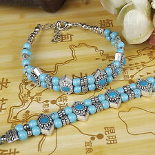 DIY NEW Fashion Free shipping Jewelry Tibet jade turquoise bead bracelet S265D