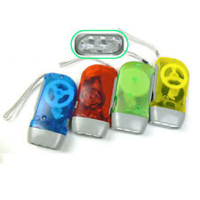 3 Bright LED Dynamo Wind Up Flashlight Hand-pressing Crank NR No Battery Torch