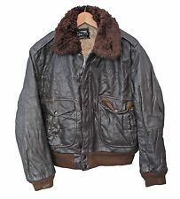 Vtg Leather G-1 Flight Jacket Flying Pilot Bomber USA - S 36 38 (25765)