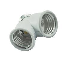 B3 E27 Light Lamp Bulb Fitting Socket 2 Splitter Converter Adapter Split