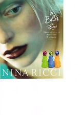 PUBLICTE  2000   NINA RICCI    parfum  LES BELLES