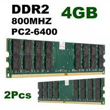 8GB(2x4GB )DDR2 800Mhz PC2-6400 240 Pin Desktop Memory RAM AMD Chips Set