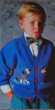 "BABIES~TODDLERS ~CARDIGAN~DOG MOTIF~ KNITTING PATTERN SIZE 22-28""(J56)"