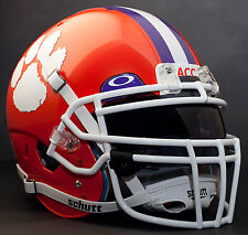 *CUSTOM* CLEMSON TIGERS Schutt XP Gameday REPLICA Football Helmet w/ROPO-DW