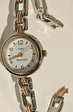 Women's Timex Essentials Two Tone White Dial Watch