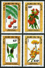 Senegal 798-801, MI 996-999, MNH. Indigenous Flowers, 1988