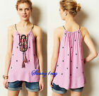 NEW L Anthropologie Anayet Tank By Vanessa Virginia Embellishments 5 Star Last 1