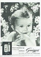 PUBLICITE ADVERTISING 115  1961  GUIGOZ  lait 2° age bébé