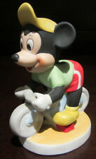 RARE Disney Mickey Mouse Bike Riding Bicycling Ceramic Porcelain Figure Statue