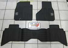2009-2012 Dodge Ram Quad Cab All Weather Rubber Slush Floor Mats Mopar OEM