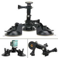 1/4'' Screw Suction Cup Tripod Car Mount fr Gopro Hero 5 4 Session SJCAM Camera