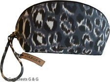 New JAEGER Women's Large Grey Leopard Print Make-Up Cosmetics Bag Free P&P BNWT