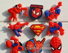 9Pcs The Amazing Spiderman Shoe Bracelet Charms Cake Toppers Party Favours 2-3cm