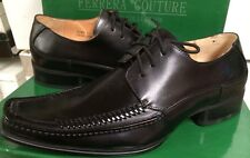 Italian Collection Ferrera Coutuere Oxford  Black Leather George size 8.5 D NIB